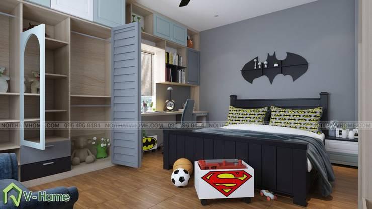 Thiết kế nội phất phòng ngủ trẻ em - batman:  Bedroom by Công ty CP tư vấn thiết kế và xây dựng V-Home