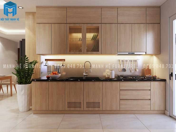 Designer :  Nhà bếp by Công ty TNHH Nội Thất Mạnh Hệ