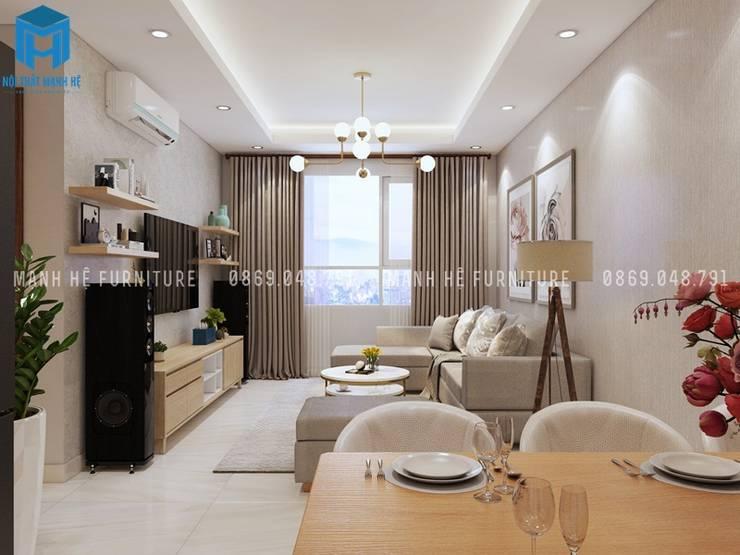 Designer :  Phòng khách by Công ty TNHH Nội Thất Mạnh Hệ