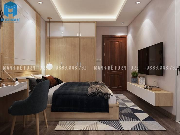 Designer :  Phòng ngủ nhỏ by Công ty TNHH Nội Thất Mạnh Hệ