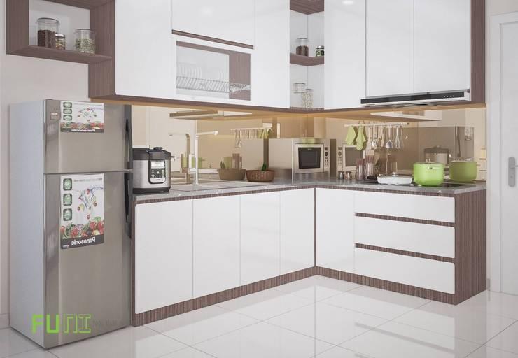Phòng bếp đẹp:  Kitchen by Công Ty TNHH Funi