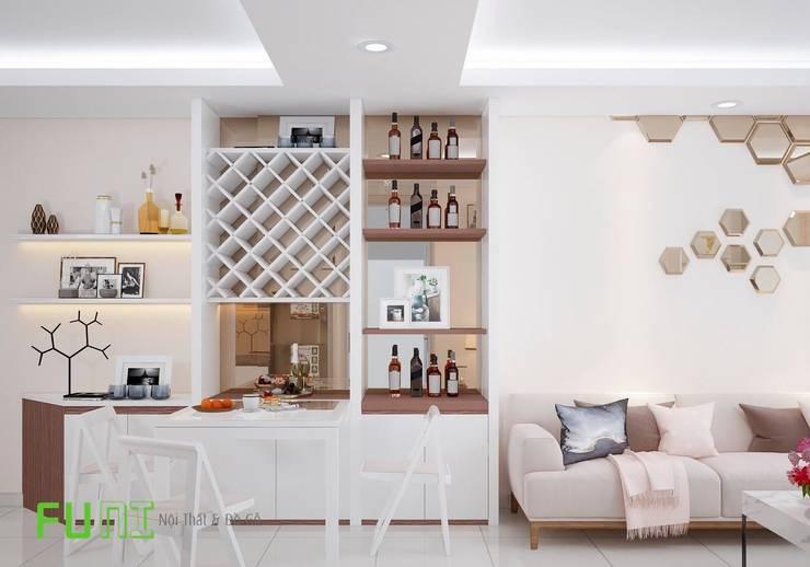 Phòng khách đẹp:  Living room by Công Ty TNHH Funi