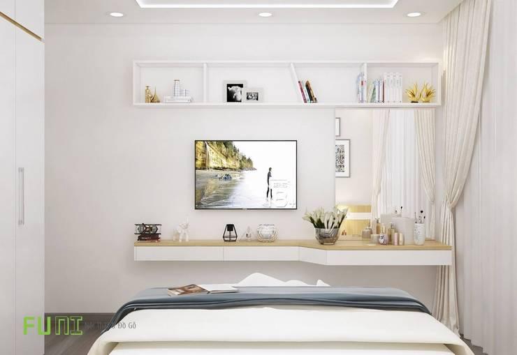 Kệ tivi phòng ngủ:  Bedroom by Công Ty TNHH Funi