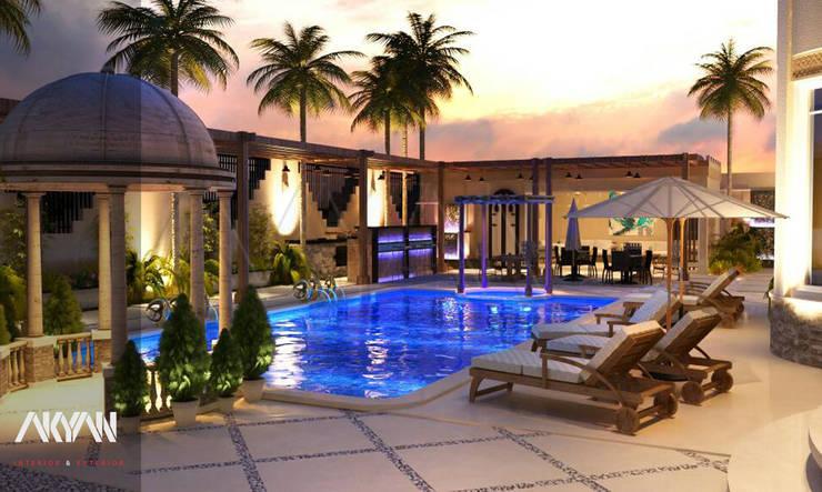 lagoon villa :  بركة مائية تنفيذ AKYAN