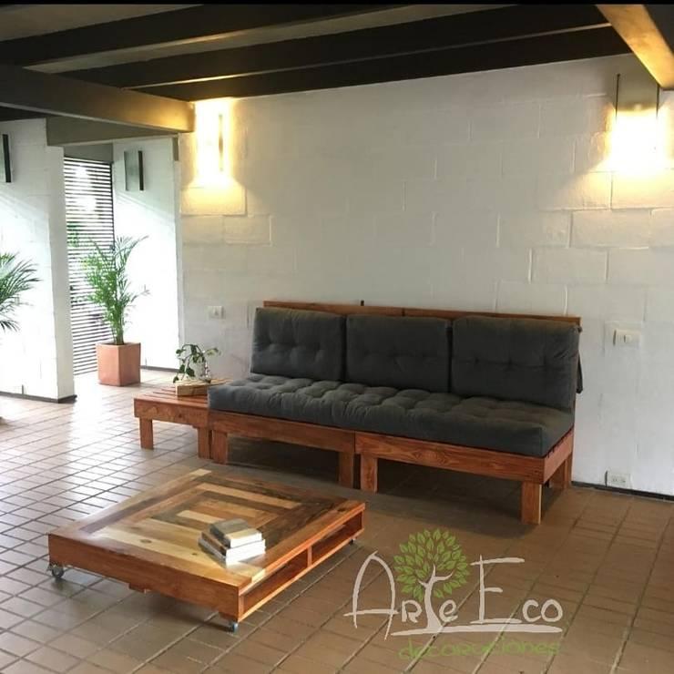 Sofa Italia:  de estilo  por Arte Eco Decoraciones, Rústico Madera Acabado en madera