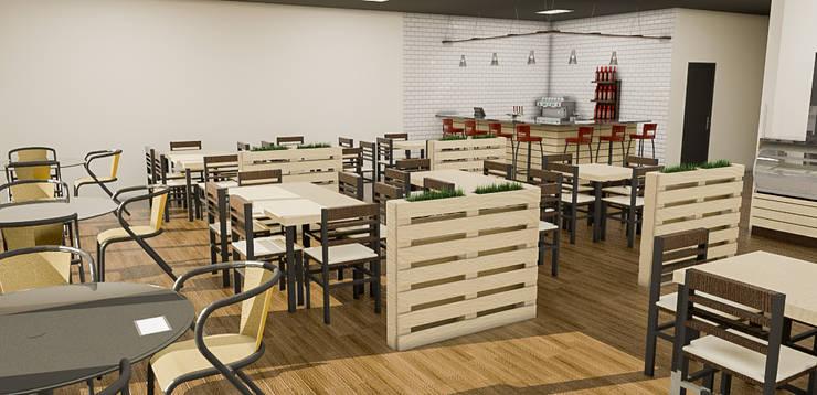 : Restaurantes de estilo  por Sixty9 3D Design, Industrial
