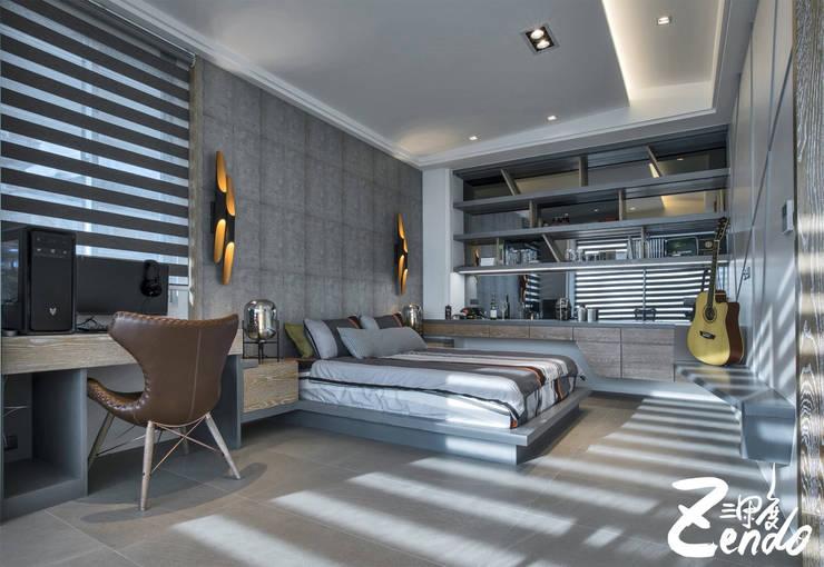 層峰:  臥室 by Zendo 深度空間設計