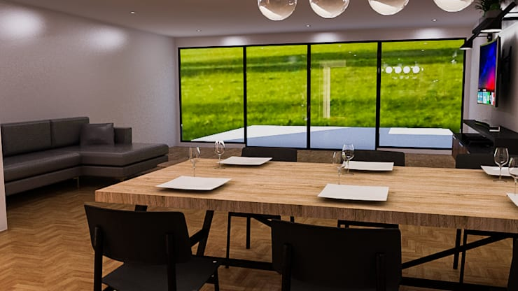 Dining room by Sixty9 3D Design, Modern