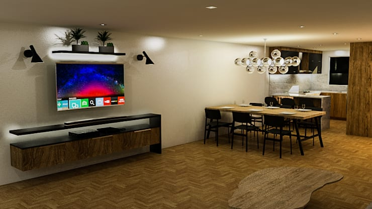 Living room by Sixty9 3D Design, Modern