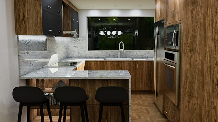 Small kitchens by Sixty9 3D Design, Modern