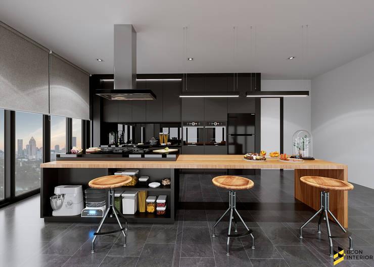 ผลงานการออกแบบห้องครัว ห้องทำเบเกอรี่:  ห้องครัว by Bcon Interior