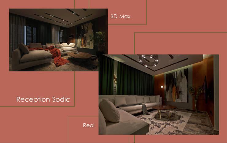 شقة سوديك:  تصميم مساحات داخلية تنفيذ Art Attack