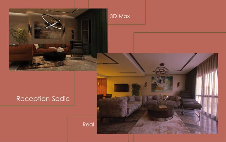 شقة سوديك:  تصميم مساحات داخلية تنفيذ Art Attack,