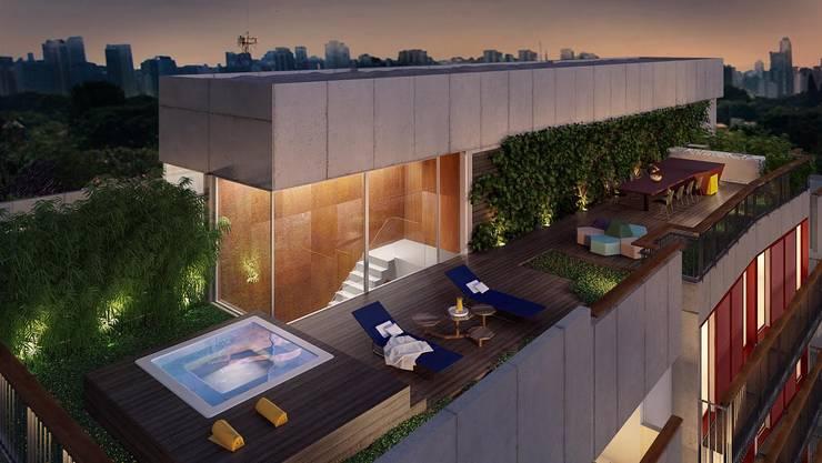 Modern balcony, veranda & terrace by FCstudio Modern