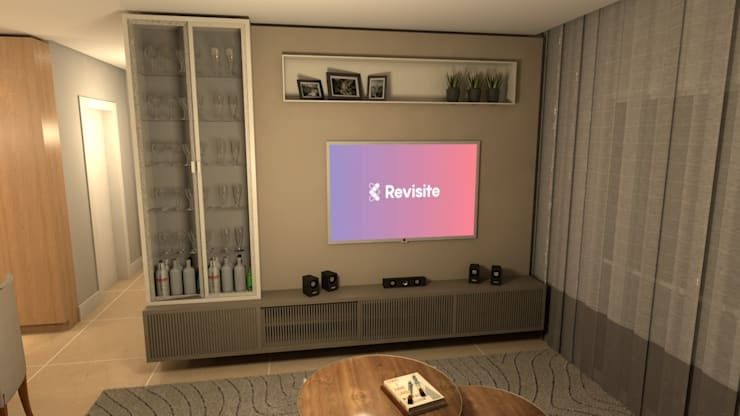 Ruang Keluarga Modern Oleh Revisite Modern