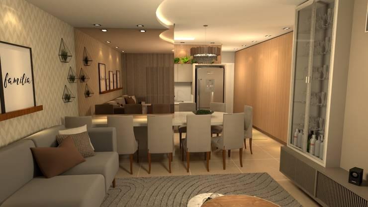 Ruang Makan Modern Oleh Revisite Modern
