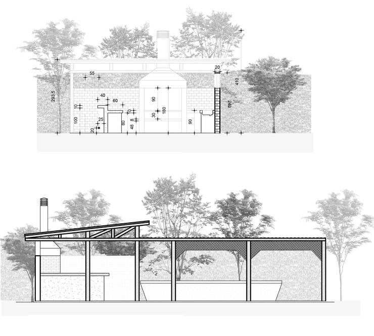 Diseño & Construcción Quincho Olmué:  de estilo  por MÜR Rukafe