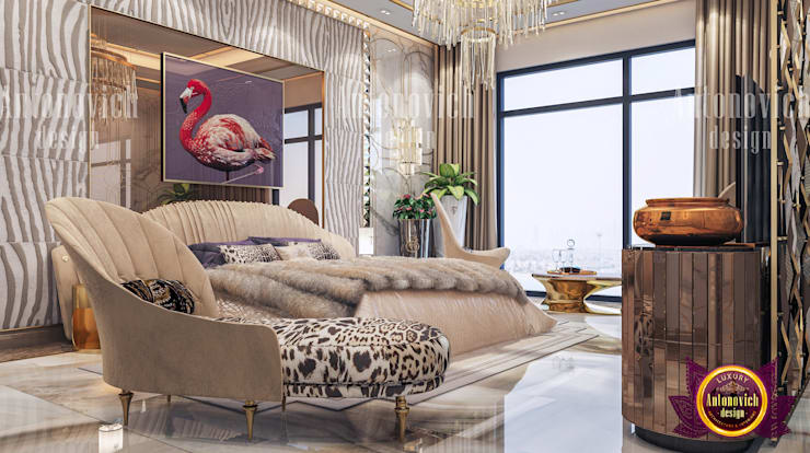 Bedroom With Safari Theme:   by Luxury Antonovich Design