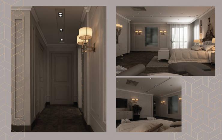 شقة المنيسي:  تصميم مساحات داخلية تنفيذ Art Attack,