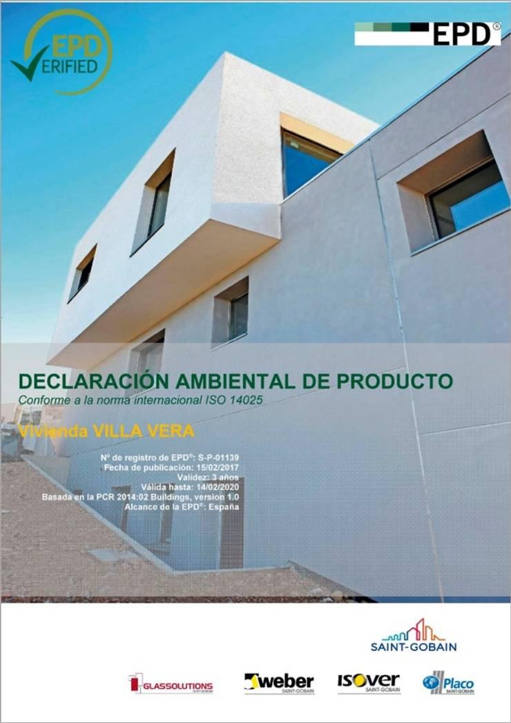 Segunda vivienda en el mundo en tener una ecoetiqueta EPD.:  de estilo  de Estudio1403, COOP.V. Arquitectos en Valencia
