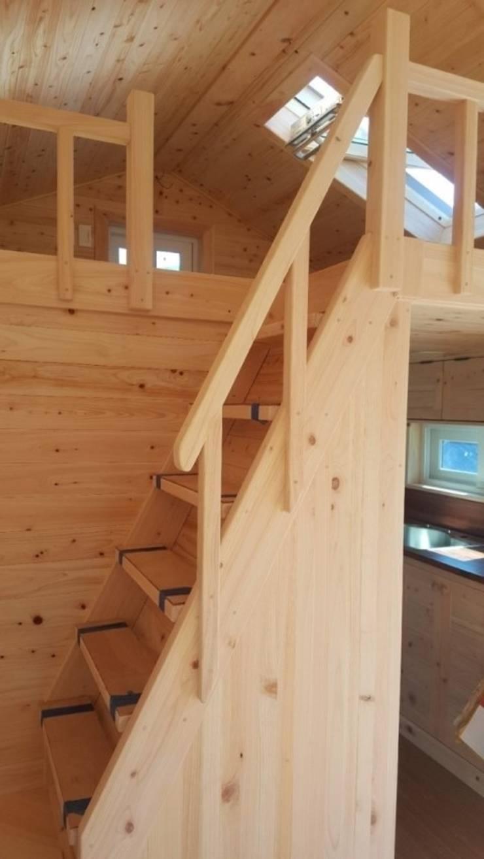 풍경채(내부): 풍경우드테크의  계단,
