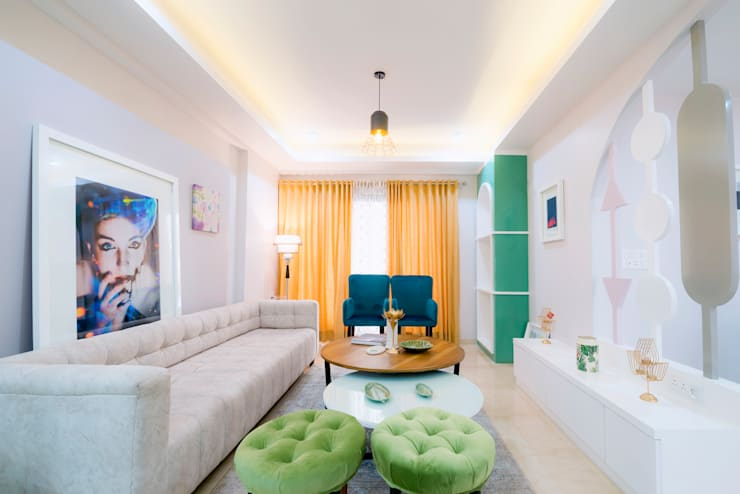 4 Bhk interior designing project at jaipur by Flamingo Architects:   by flamingo architects