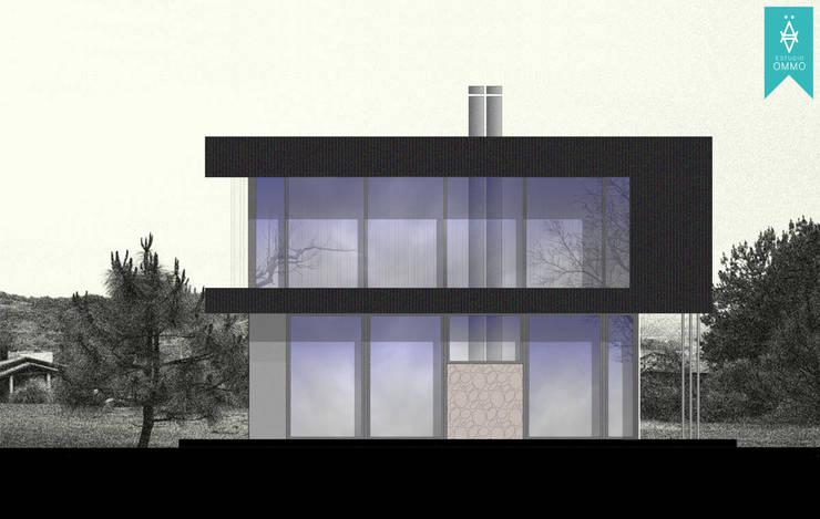 VIVIENDA COMPACTA : Casas prefabricadas de estilo  por ESTUDIO OMMO,
