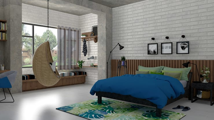 Daughter's bedroom:  Small bedroom by PSR Architecture, Modern