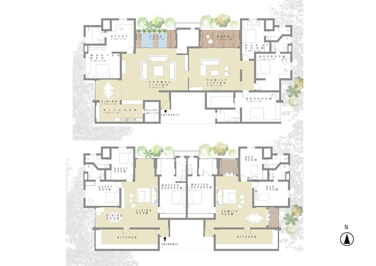 Existing plan , Renovated layout: modern  by PSR Architecture, Modern