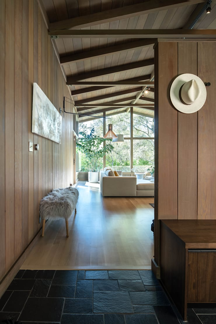 Lafayette Modern Remodel by Klopf Architecture:  Living room by Klopf Architecture, Modern