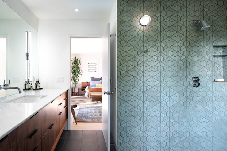 Lafayette Modern Remodel by Klopf Architecture:  Bathroom by Klopf Architecture, Modern