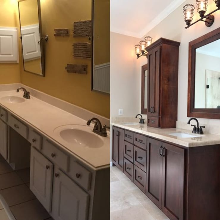 "before and after bathroom pictures: {:asian=>""asian"", :classic=>""classic"", :colonial=>""colonial"", :country=>""country"", :eclectic=>""eclectic"", :industrial=>""industrial"", :mediterranean=>""mediterranean"", :minimalist=>""minimalist"", :modern=>""modern"", :rustic=>""rustic"", :scandinavian=>""scandinavian"", :tropical=>""tropical""}  by Premium Residential Remodeling,"