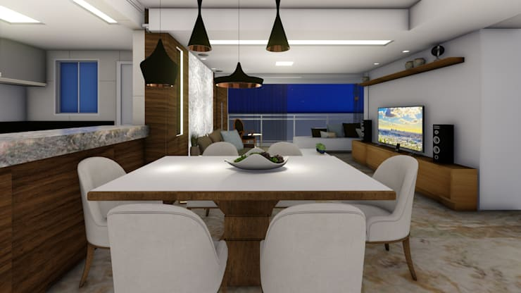 Comedores de estilo  por Joana Rezende Arquitetura e Arte