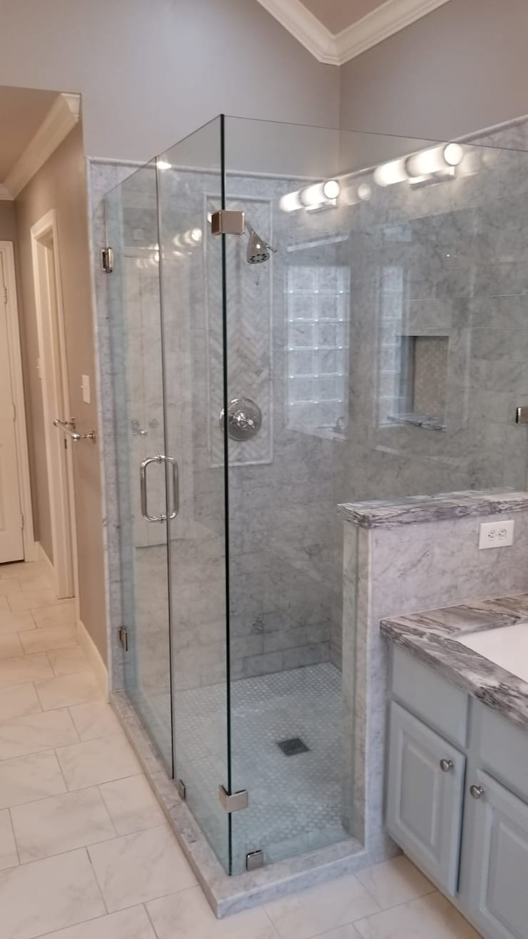 bathroom remodeling pictures 2 before and after projects:   by Premium Residential Remodeling