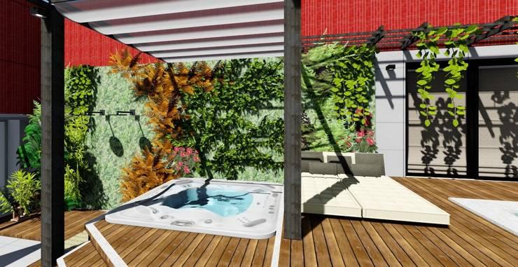 Terrasse de style  par Joana Rezende Arquitetura e Arte