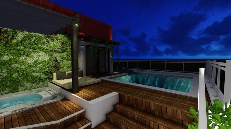 Terrace by Joana Rezende Arquitetura e Arte