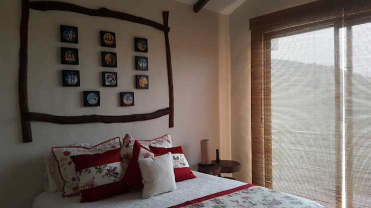 Habitacion: Habitaciones pequeñas de estilo  por Ba arquitectos, Rural