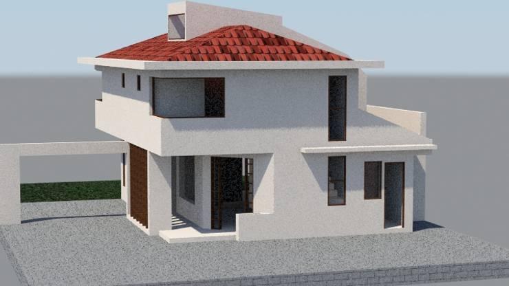 Imagen objetivo: Casas unifamiliares de estilo  por MSGARQ
