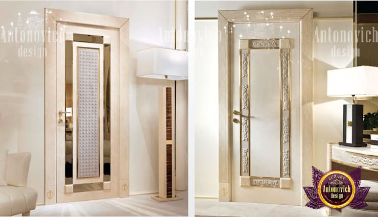 Luxurious Front Door Design:   by Luxury Antonovich Design