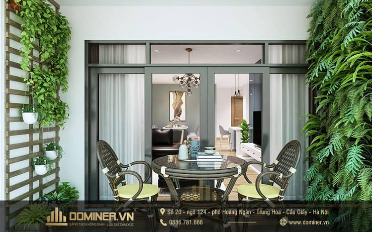 Ban công:   by Thiết kế - Nội thất - Dominer