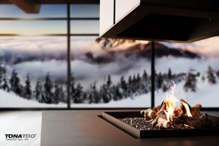 TONATOO® Quu-Fire:  Wohnzimmer von TONATOO® by Markus Schwab