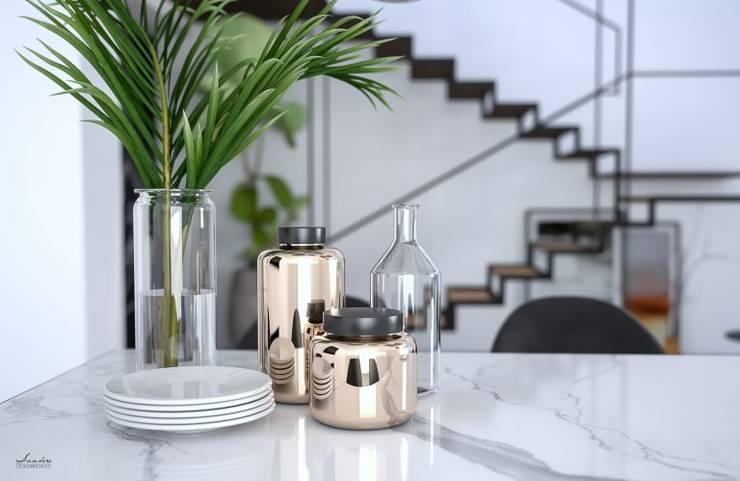 NOIR – 3D project Minimalistische Wohnzimmer von Santoro Design Render Minimalistisch