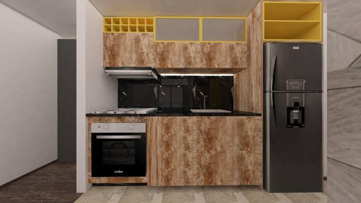 Remodelación de Apto en Zipaquirá: Cocinas integrales de estilo  por Kaizen diseño interior