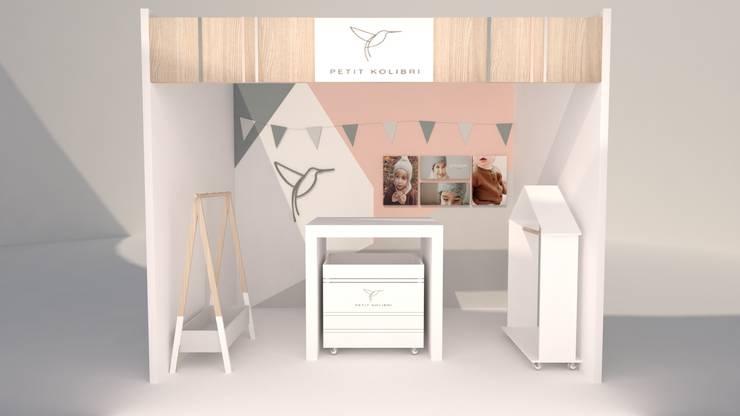 Diseño de Stand para Feria: Estudios y despachos de estilo  por Kaizen diseño interior