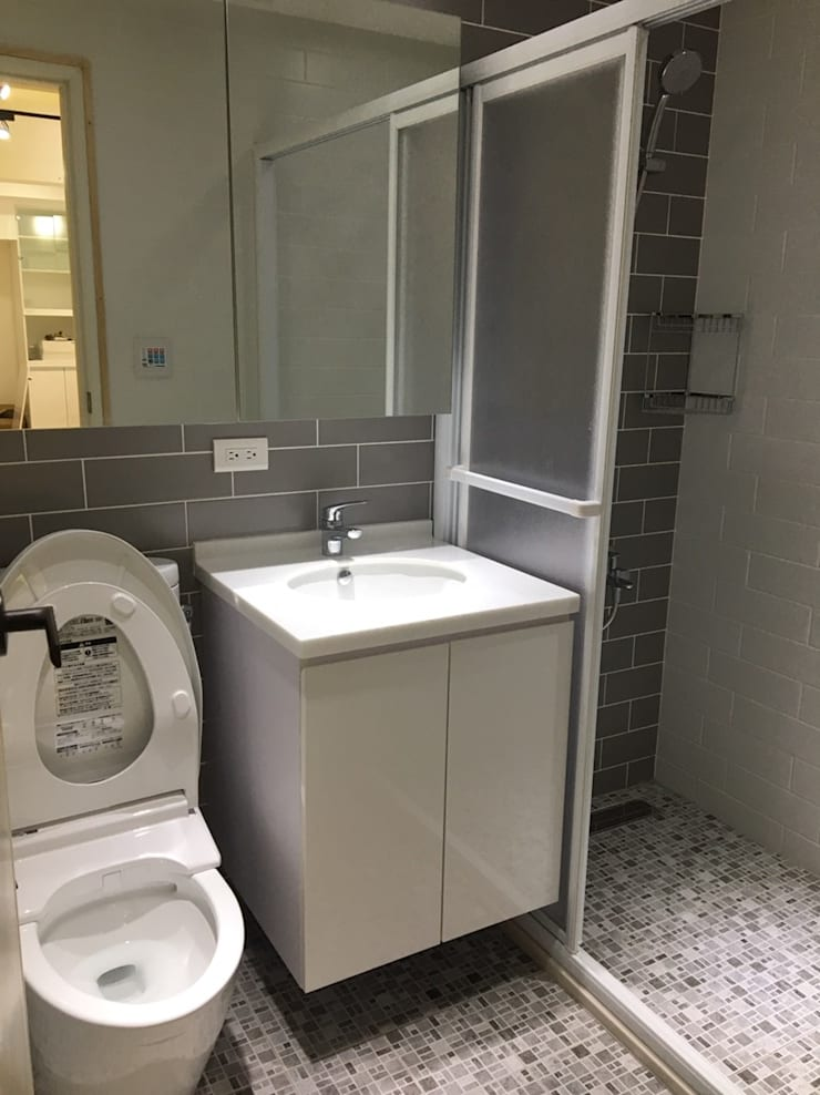 南山路設計案 雅致 清新 品味生活:  浴室 by 捷士空間設計(省錢裝潢)