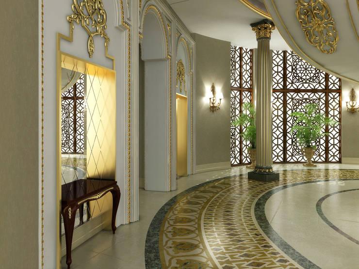 Corridor / Pearl Palace Pasillos, vestíbulos y escaleras clásicas de Sia Moore Archıtecture Interıor Desıgn Clásico Mármol