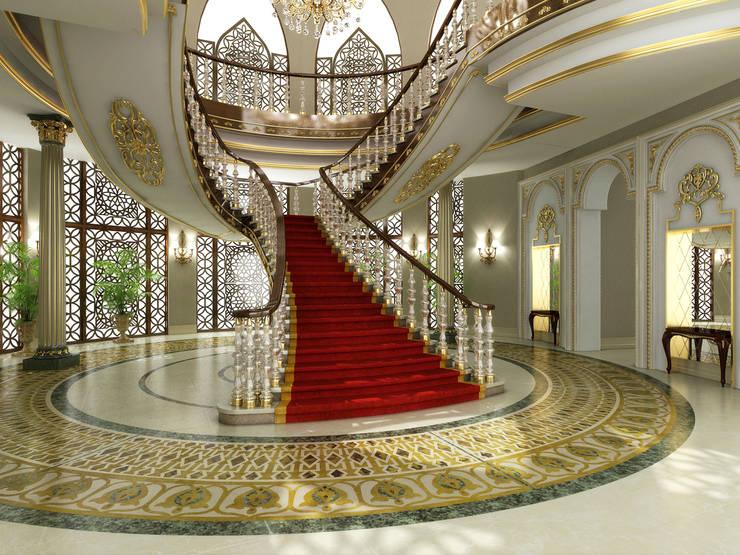 Main Entrance / Pearl Palace Pasillos, vestíbulos y escaleras clásicas de Sia Moore Archıtecture Interıor Desıgn Clásico Mármol