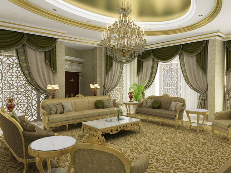 Living Room - 2 / Pearl Palace Livings de estilo clásico de Sia Moore Archıtecture Interıor Desıgn Clásico Madera maciza Multicolor