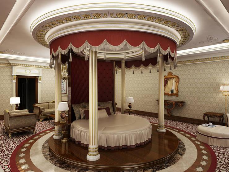 Master Bedroom / Pearl Palace de Sia Moore Archıtecture Interıor Desıgn Clásico Mármol