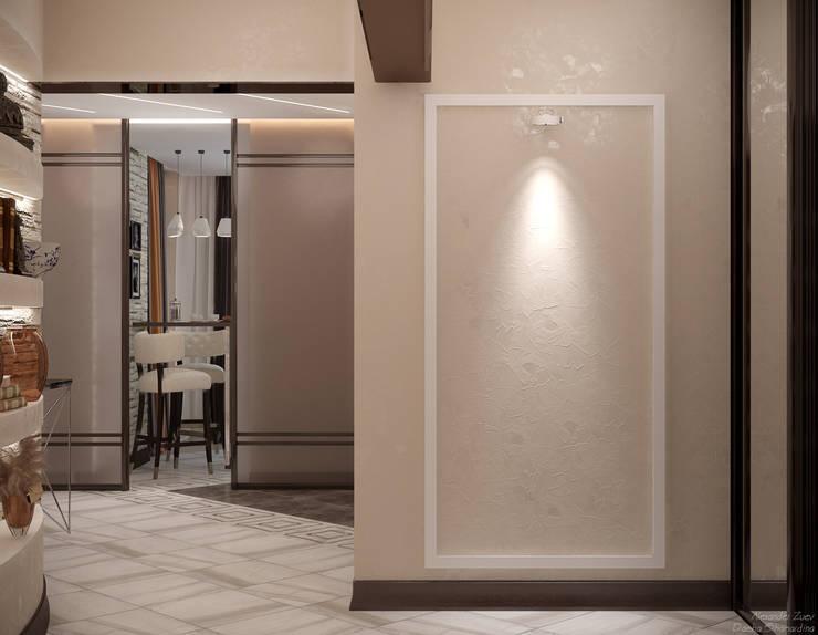 走廊 & 玄關 by Студия интерьерного дизайна happy.design, 現代風
